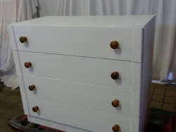COMMODE 4T BLANC