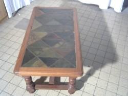 TABLE  BASSE  CARRELEE
