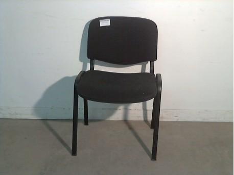 Chaise noire de bureau ressourcerie belloccas