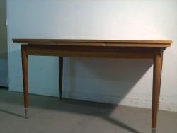 TABLE CUISINE PIED ARGENT